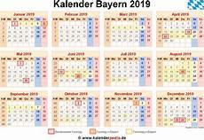 Kalender 2019 Bayern Ferien Feiertage Excel Vorlagen