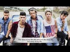 One Direction Story Of My Lyrics Pictures