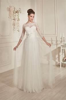 modest wedding gowns with 3 4 sleeves modest classic a line floor length ivory tulle