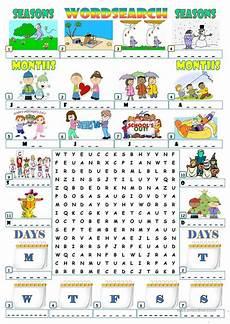 seasons exercises worksheets 14790 seasons months days wordsearch worksheet free esl printable worksheets made by teachers