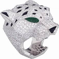 bague jaguar cartier crh4179600 panth 232 re de cartier ring white gold