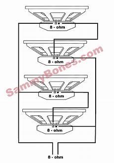 4 speaker 8 ohm wiring diagram