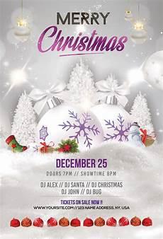 merry christmas holiday free psd flyer template freebiedesign net
