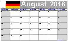August 2016 Kalender Mit Noten Grosse Ziffern
