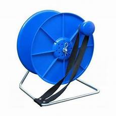 blue cable reel stand spool lock and break electric fence fencing wire tape ebay