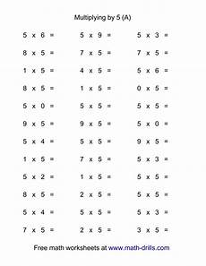 36 horizontal multiplication facts questions 5 by 0 9 a