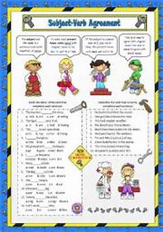 english worksheet subject verb agreement