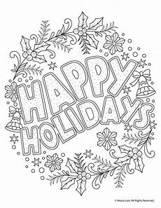 happy holidays coloring freebie coloring