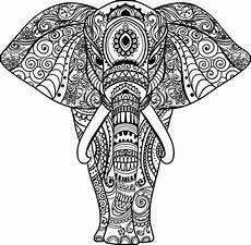 Ausmalbilder Elefant Mandala Zentangle Animals S 248 Gning Tatuajes De Elefantes