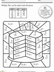 division worksheets coloring 6132 color by numbers number cakes and multiplication on