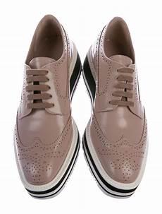 Brogue Platform Oxfords prada brogue platform oxfords shoes pra171606 the