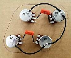 upgraded 50s style epiphone les paul wiring harness bourns 500k pro audio pots ebay