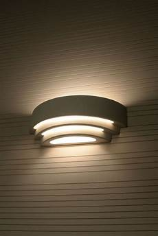 contemporary indoor wall light up down curved white sconce lighting l moder in home