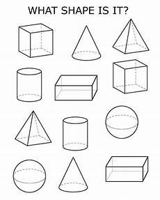3d shapes shapes worksheet kindergarten