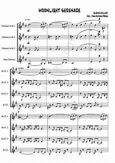 free sheet music miller glenn moonlight serenade