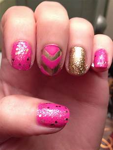 michelle madow pink and gold nail art