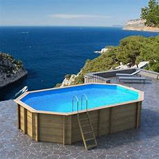 piscine hors sol bois odyssea proswell by procopi l 6 4 x