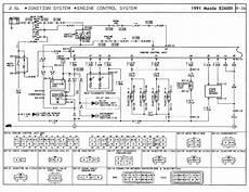 1991 mazda b2600i wiring diagram ignition system coil igniter module condenser main relay