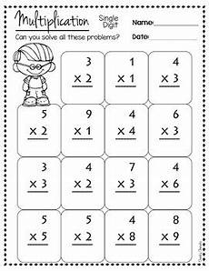 introduction to multiplication worksheets grade 3 4787 math practice sheet multiplication single digit by cheeky cherubs