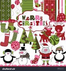 cute christmas scrapbook stock vector 84660433