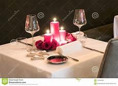 candela romantica regolazione a lume di candela romantica della tavola per