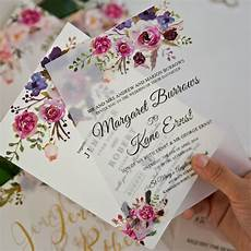 unique uv printed vellum wedding invitations with diy
