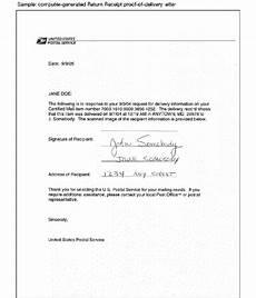 certified mail return receipt template certified mail return receipt requested template