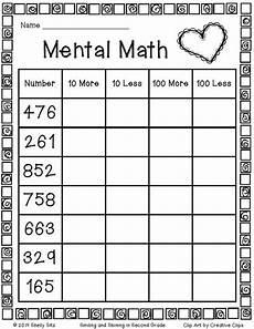 second grade mental math freebie click the word quot here quot 2nd grade math second grade math