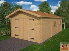 garage bois en kit kit garage bois de 18 90 m 178 avec espace rangement de 7 59 m 178