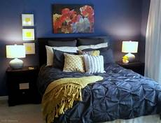 Yellow Grey And Blue Bedroom Ideas by Navy And Yellow Bedroom With White Comforter Instead Of