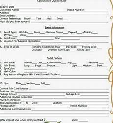 makeup consultation form template makeup artist client consultation form mugeek vidalondon