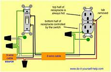 Switched Split Receptacle Basic Electrical Wiring Home