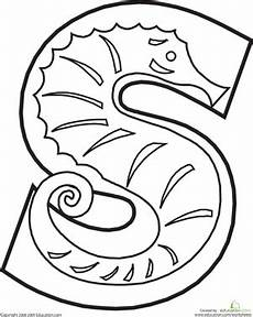 colouring pages for adults of animals letters 17309 letter s worksheet education