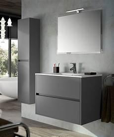 outlet bagni roma mobile bagno moderno sospeso grigio opaco cm 60 con