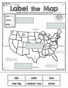 mapping label it first grade and kindergarten social studies map skills social studies and