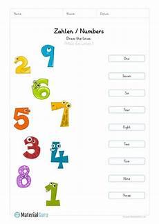 englisch lernen zahlen numbers kindegarten pdf mit
