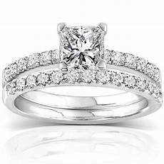 annello 14k white gold 1 1 2ct tdw diamond princess cut bridal ring h i i1 i2 overstock