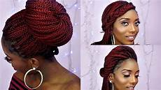 how to style box braids 6 quick and unique styles youtube