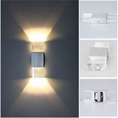 modern 2w led wall light up down l sconce spot lighting home bedroom fixture ebay