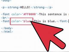 color text html how to use font color tags in html with sle html how to change text color in html with exles wikihow