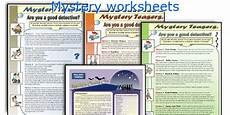 english teaching worksheets mystery