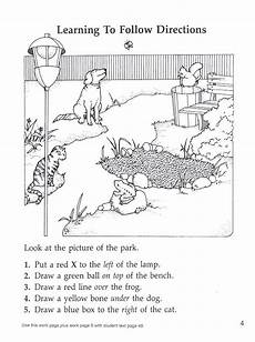 following directions worksheets free printable 11690 following directions park prepositions locatives education parks and following