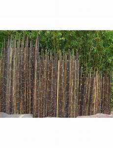 Cloture Bambou Noir Brise Vue Bambouland En Bambou