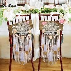 ourwarm diy wedding decoration groom chair decor diy kit dream catcher wedding chair