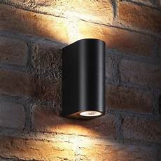 auraglow 14w outdoor double up down wall light windsor black auraglow led lighting