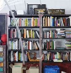 colorful and funky interiors industrial bookshelf 600x617 jpg