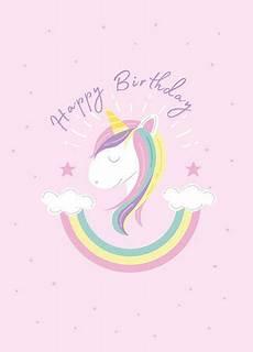 Malvorlagen Gratis Einhorn Happy Birthday Einhorn Einladungen Karten Zum Ausdrucken Einhorn