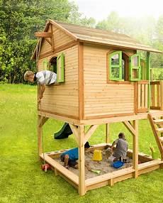 Spielhaus Auf Stelzen - holz kinderspielhaus auf stelzen sandkasten garten