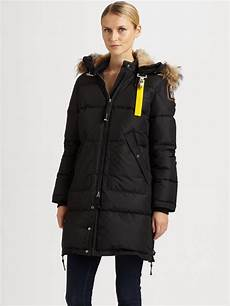 parajumpers long bear sale lyst parajumpers coat in black