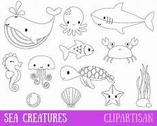 underwater animals coloring pages 17176 sea animals clipart marine animals coloring page by clipartisan